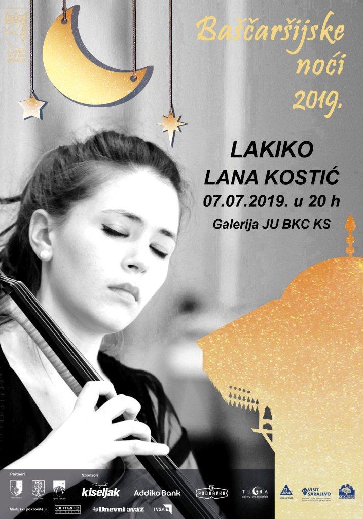 Koncert violončelistice Lane Kostić, nedjelja 07.07. galerija JU BKC KS, u 19 sati