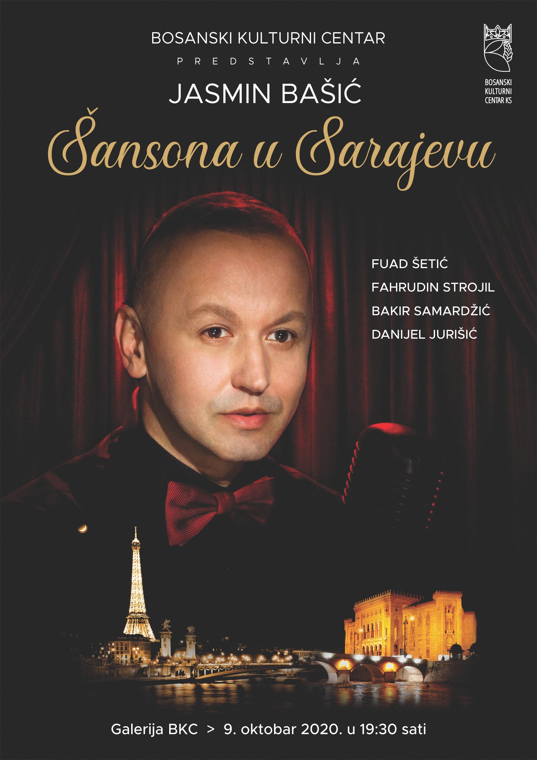"""Koncert """"Šansona u Sarajevu"""", petak, 09. 10. u 19, 30 sati"""